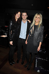 Left to right, LEAH WOOD, TYRONE WOOD and JO WOOD at the launch of the new Chinawhite at 4 Winsley Street, London on 21st October 2009.