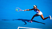 American Sloane Stephens at the 2013 Australian Open - a Grand Slam Tournament - is the opening event of the tennis calendar annually. The Open is held each January in Melbourne, Australia. Sloane Stephens - born March 20, 1993 - is an American tennis player who is currently ranked World No. 26 in the Women's Tennis Association singles rankings.<br />