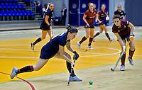 ROTTERDAM -  Klein Zwitserland D2 tegen de dames van Eelde D2, tijdens het Landskampioenschap reserveteam zaal 2013. FOTO KOEN SUYK