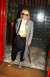ANITA PALLENBERG at a private dinner and presentation of Issa's Autumn-Winter 2005-2006 collection held at Annabel's, 44 Berkeley Square, London on 15th March 2005.<br />