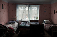 The bedroom of an orphanage on the outskirts of Chisinau. One of the requirements to join the European Community, is the progressive closure of the approximately 60 orphanages present in the Moldavian territory.