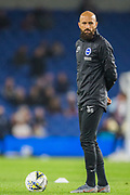 Bruno Salter coach during the warm up ahead of the EFL Cup match between Brighton and Hove Albion and Aston Villa at the American Express Community Stadium, Brighton and Hove, England on 25 September 2019.