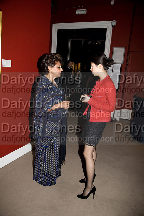 PRINCESS JEET LABHA KHENKA; MARYAM FARKHADI, Imperial and Royal Presents. Russian auction. Sotheby's. New Bond St. London. 23 November 2008.  *** Local Caption *** -DO NOT ARCHIVE-© Copyright Photograph by Dafydd Jones. 248 Clapham Rd. London SW9 0PZ. Tel 0207 820 0771. www.dafjones.com.