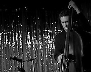 Bassist Viktor Krauss performing with the Jack Silverman Ordeal in Nashville, TN. <br />