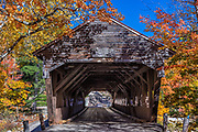 Covered bridge, White Mountain National Forest, Albany, New Hampshire, USA.
