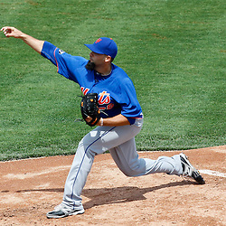 March 14, 2012; Lakeland, FL, USA; New York Mets starting pitcher Dillon Gee (35) throws during the bottom of the first inning of a spring training game at Joker Marchant Stadium. Mandatory Credit: Derick E. Hingle-US PRESSWIRE