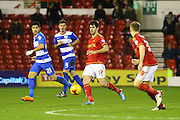 Nottingham Forest forward Nelson Oliveira makes a pass during the Sky Bet Championship match between Nottingham Forest and Queens Park Rangers at the City Ground, Nottingham, England on 26 January 2016. Photo by Aaron Lupton.