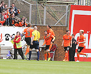 Dundee United's Nadir Çiftçi is congratulated after opening the scoring  - Dundee United v Dundee at Tannadice Park in the SPFL Premiership<br /> <br />  - © David Young - www.davidyoungphoto.co.uk - email: davidyoungphoto@gmail.com