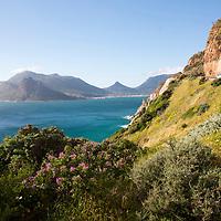 The drive along Chapman's Peak near Cape Town, South Africa. Garden Route.