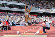 Jessica Ennis-Hill GBR in the Long Jump during the Muller Anniversary Games at the Stadium, Queen Elizabeth Olympic Park, London, United Kingdom on 23 July 2016. Photo by Phil Duncan.