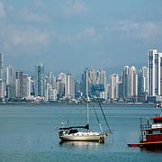 The skyline of Panama City, Panama as viewed on Dec. 31, 2008.