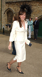 LADY ROSE INNES-KER at the wedding of Hugh van Cutsem to Rose Astor in Burford, Oxfordshire on 4th June 2005.<br />