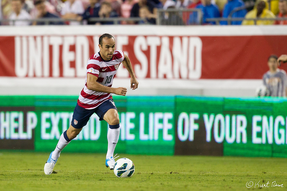 USA Men's National Team forward LANDON DONOVAN (10) during the Antigua & Barbuda vs USA Men's National Team  semifinal round of 2014 FIFA World Cup qualifier at Raymond James Stadium in Tampa, Fl. .