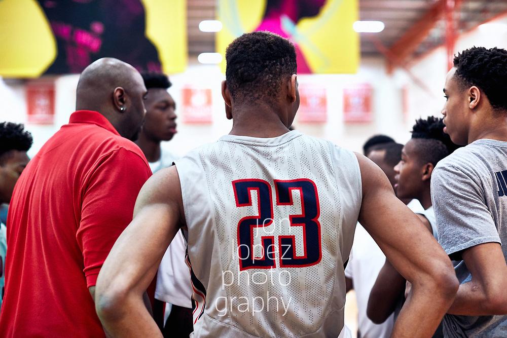 HAMPTON, VA FRIDAY, APRIL 22, 2017:  Nike EYBL session 1 at the Boo Williams Sportsplex.  Center. NOTE TO USER: Mandatory Copyright Notice: Photo by Jon Lopez