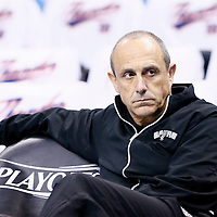 06 May 2016:  San Antonio Spurs Assistant Coach Ettore Messina is seen prior to the San Antonio Spurs 100-96 victory over the Oklahoma City Thunder, during Game Three of the Western Conference Semifinals of the NBA Playoffs at the Chesapeake Energy Arena, Oklahoma City, Oklahoma, USA.