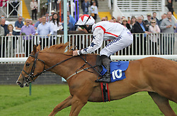 Lady Joanna Vassa ridden by Connor Beasley wins the 4.00 The Odds On Favourite DG Taxis 01159500500 Handicap Stakes - Mandatory by-line: Jack Phillips/JMP - 22/05/2016 - HORSE RACING - Nottingham Racecourse - Nottingham, England - The Nottingham Post Community Day In Association With MacMillan