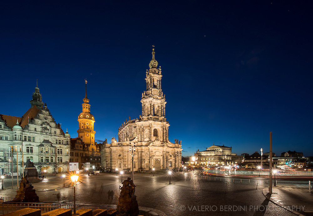 Roman Catholic Cathedral of Dresden. Landmark 18th-century structure by Gaetano Chiaveri, restored after damage in World War II.
