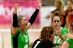 26-10-2019 NED: Dros Alterno - Set Up 65, Apeldoorn<br /> Round 4 of Eredivisie volleyball - Lauri Luijken #6 of Alterno, Romy Hietbrink #12 of Alterno