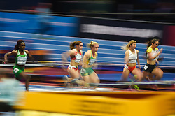 March 2, 2018 - Birmingham, England, United Kingdom - Heat 5 at 60 meter hurdles at World indoor Athletics Championship 2018, Birmingham, England on March 2, 2018. (Credit Image: © Ulrik Pedersen/NurPhoto via ZUMA Press)