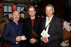 29/10/2015<br /> IAB Conference at the Guinness Storehouse.<br /> (l-r):<br /> Declan Kelly (ZenithOptimedia);<br /> Alan Metcalfe (Richmond Marketing) and <br /> Flor Prendergast (Richmond Marketing).