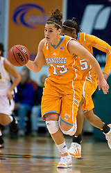 December 22, 2009; San Francisco, CA, USA;  Tennessee Lady Volunteers guard Taber Spani (13) after a steal against the San Francisco Dons during the first half at War Memorial Gym.  Tennessee defeated San Francisco 89-34.