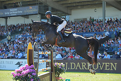 Duguet Romain, (FRA), Quorida de Treho<br /> Longines Global Champions Tour - Grand Prix of Hamburg<br /> Hamburg - Hamburger Derby 2016<br /> © Hippo Foto - Stefan Lafrentz