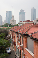homes and skyscrapers in Shanghai China