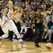 Roneeka Hodges, Tulsa Shock, in action during the Connecticut Sun Vs Tulsa Shock WNBA regular season game at Mohegan Sun Arena, Uncasville, Connecticut, USA. 3rd July 2014. Photo Tim Clayton