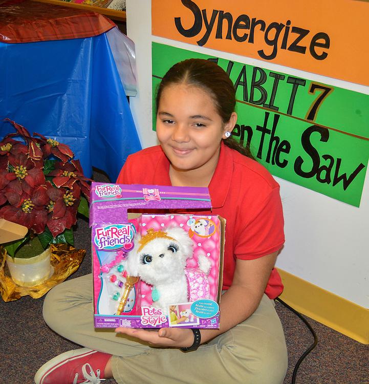 Annual toy survey at Longfellow Elementary School, November 24, 2015.