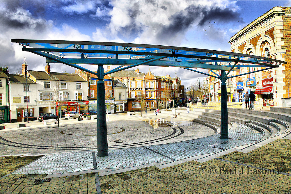 Kettering town centre redevelopments of Market street and the Market place