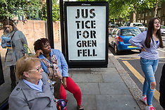 2019-06-14 Justice for Grenfell protest stencil