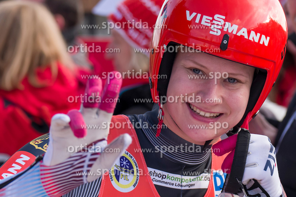 26.11.2016, Winterberg, GER, Viessmann Rennrodel Weltcup, Winterberg, Damen, Einsitzer, im Bild Dajana Eitberger // during women's single seater of Viessmann Luge World Cup. Winterberg, Germany on 2016/11/26. EXPA Pictures &copy; 2016, PhotoCredit: EXPA/ Rolf Kosecki<br /> <br /> *****ATTENTION - OUT of GER*****