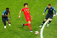 SAINT PETERSBURG, RUSSIA - JULY 10: Axel Witsel (C) of Belgium national team in action against Blaise Matuidi (L) and Antoine Griezmann of France national team during the 2018 FIFA World Cup Russia Semi Final match between France and Belgium at Saint Petersburg Stadium on July 10, 2018 in Saint Petersburg, Russia. MB Media