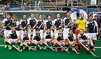BRASSCHAAT (ANTWERP - Belgium) -  The French team  during the Fintro Hockey World League Semi-Final match between the men of India and France (3-2) COPYRIGHT WORLDSPORTPICS KOEN SUYK