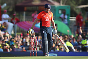 Jonny Bairstow out  during the International T20 match between South Africa and England at Supersport Park, Centurion, South Africa on 16 February 2020.
