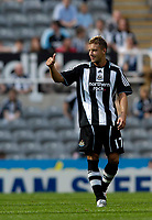 Photo: Jed Wee/Sportsbeat Images.<br /> Newcastle United v Sampdoria. Pre Season Friendly. 05/08/2007.<br /> <br /> Newcastle's new signing Alan Smith gives the thumbs up after a goalscoring debut.