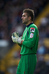 NOTTINGHAM, ENGLAND - Saturday, October 6, 2012: Notts County's Bartosz Bia?kowski in action against Tranmere Rovers during the Football League One match at Meadow Lane. (Pic by David Rawcliffe/Propaganda)