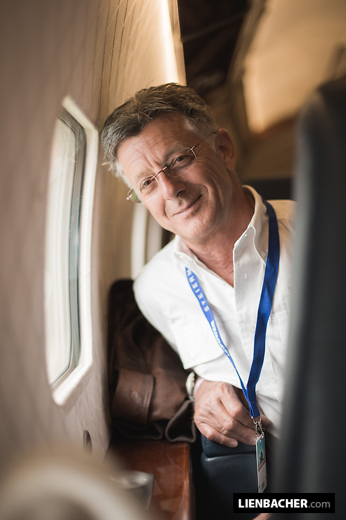 Portrait of The Flying Bulls general manager Harald Reiter, flying home from the Airpower 2013 in the DC6b