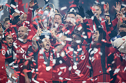 December 9, 2017 - Toronto, Ontario, Canada - Toronto FC forward SEBASTIAN GIOVINCO (10) lifts the MLS CUP with his team.  Toronto wins the MLS Cup championship match at BMO Field in Toronto, Canada.  Toronto FC defeats Seattle Sounders 2 to 0. (Credit Image: © Mark Smith via ZUMA Wire)