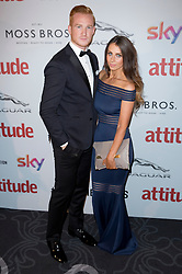 Greg Rutherford and Susie Verill attend the 2016 Attitude Awards in association with Virgin Holidays, at 8 Northumberland Avenue, London. Monday October 10, 2016. Photo credit should read: Isabel Infantes / EMPICS Entertainment.