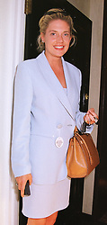 MISS ZOE APPLEYARD a former close friend of comedian Rory Bremner, at a party in London on 16th June 1999.MTI 30