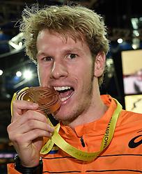 08-03-2015 CZE: European Athletics Indoor Championships, Prague<br /> Thijmen Kupers pakt de bronze medaille op de 400 meter