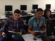 Chavez HS students participate in a voter phone bank.<br />
