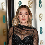Tanya Burr Arrivers at EE British Academy Film Awards in 2019 after-party dinner at Grosvenor house on 10 Feb 2019.