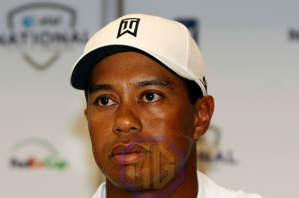 03 July 2007:  Tiger Woods speaks to the media and discusses the inaugural AT&T National PGA event at Congressional Country Club in Bethesda, Md. The proceeds of the golf tournament will benefit the Tiger Woods Foundation and local charities.   ****For Editorial Use Only