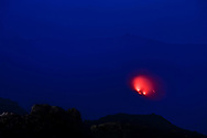 Eruptions in the main crater of the volcano Stromboli, Stromboli, Liparic Islands, Italy