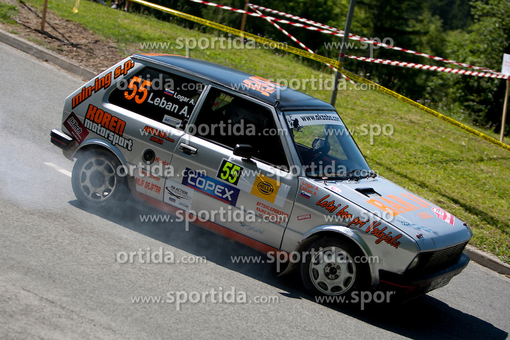 Anej Leban and Ales Logar of SLO during 35th Rally Saturnus, on May 12, 2012, in Trbovlje, Slovenia. (Photo by Urban Urbanc / Sportida)