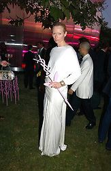 TILDA SWINTON at the Serpentine Gallery Summer party sponsored by Yves Saint Laurent held at the Serpentine Gallery, Kensington Gardens, London W2 on 11th July 2006.<br />