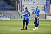 Oxford United Forward, Sam Smith (9) checks the pitch before kick off during the EFL Sky Bet League 1 match between Portsmouth and Oxford United at Fratton Park, Portsmouth, England on 18 August 2018.