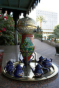 Tea caddy  Old Cataract Hotel  Aswan, Egypt